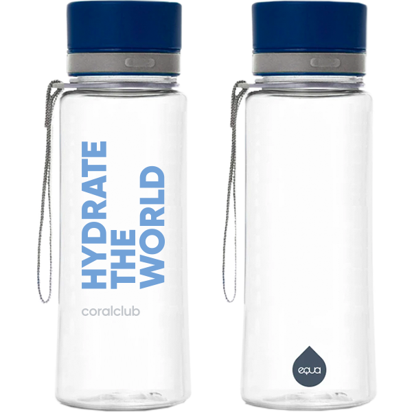 "Sticla plastic EQUA ""Hydrate the world"", 600 ml"