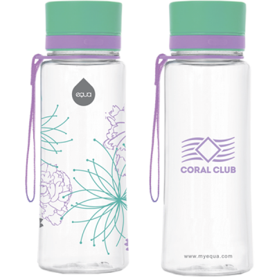 "Sticla plastic EQUA ""Flower"", 600 ml"